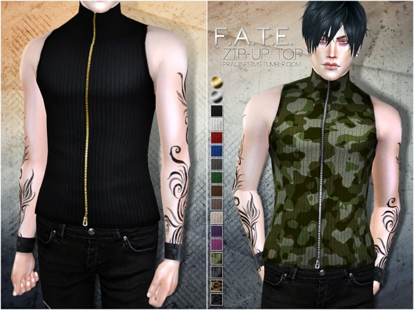 F.A.T.E. Zip-Up Top by Pralinesims