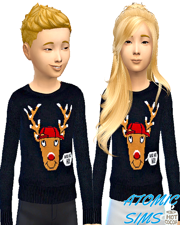 Art Rudolph sweater for kids by Atomic-sims