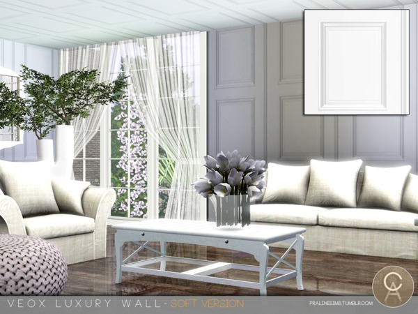 VEOX Luxury Wall - Soft Version by Pralinesims