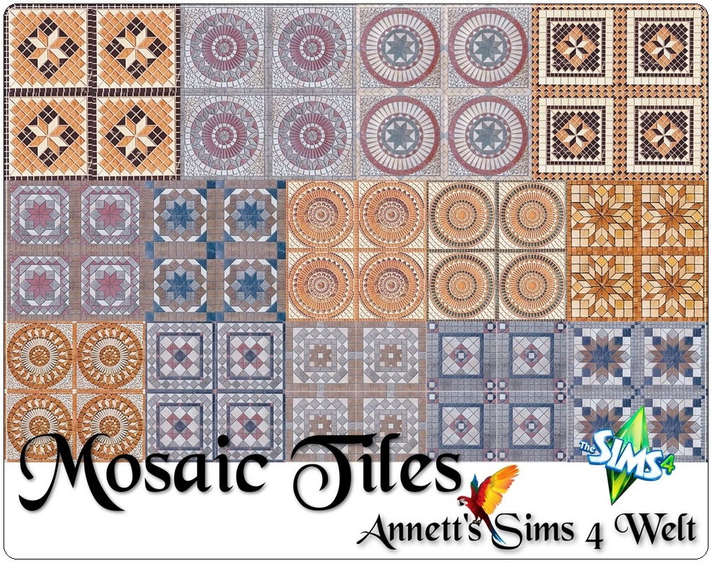 Mosaic Floor Tiles by Annett85