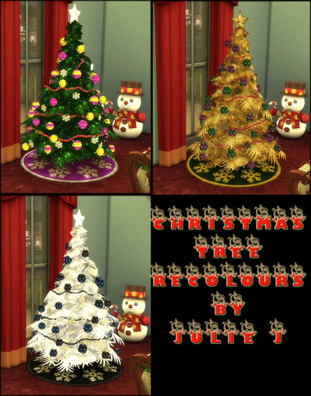 Christmas Tree Recolours by Julie J