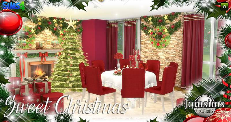Sweet Christmas Dining Set by JomSims