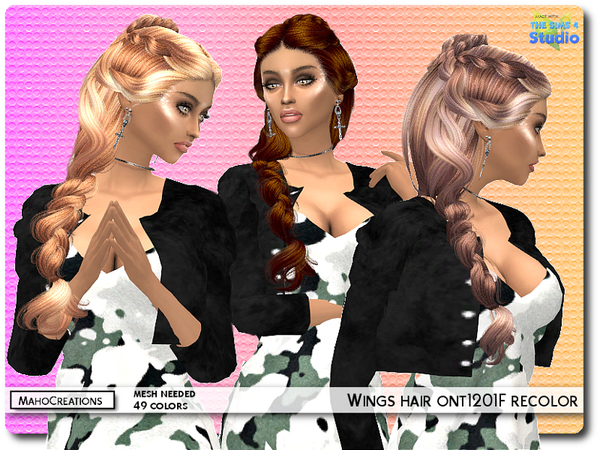 Wings Hair ont1201F Recolor - mesh needed by MahoCreations