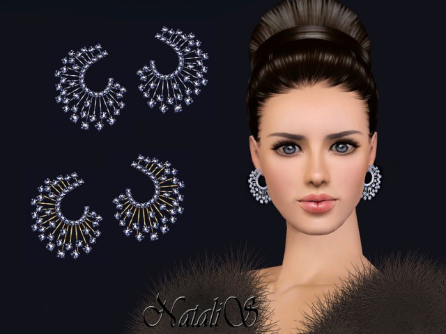 Winter crystals earrings FT-FA by NataliS