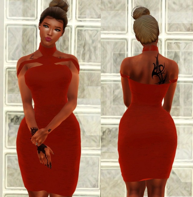Triangle-Cutouts Bandage Dress by uniqueleemade87