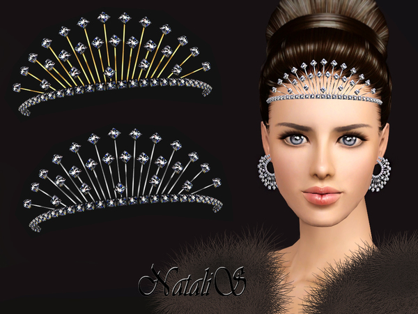 NataliS TS3 Winter crystals tiara FT-FA