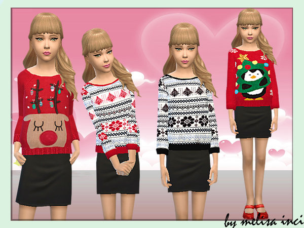 Girls Christmas Knitted Jumper by melisa inci