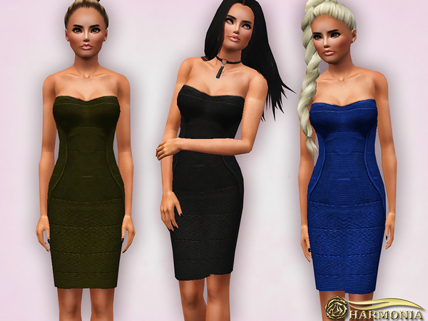 Sculpt Figure Strapless Bodycon Dress by Harmonia
