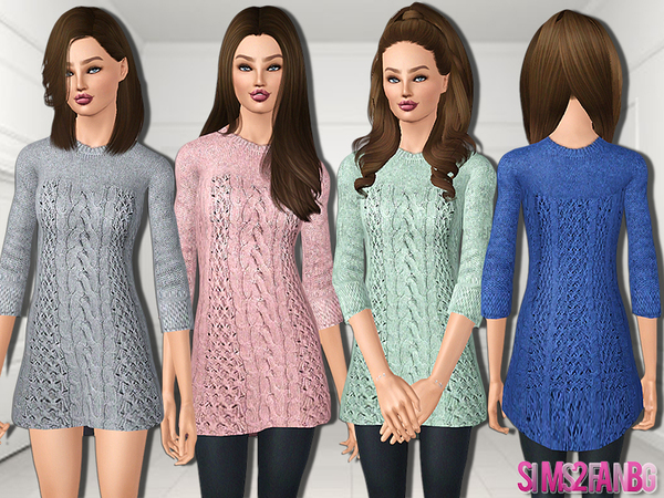 479 - Teen Knitwear Dress by sims2fanbg