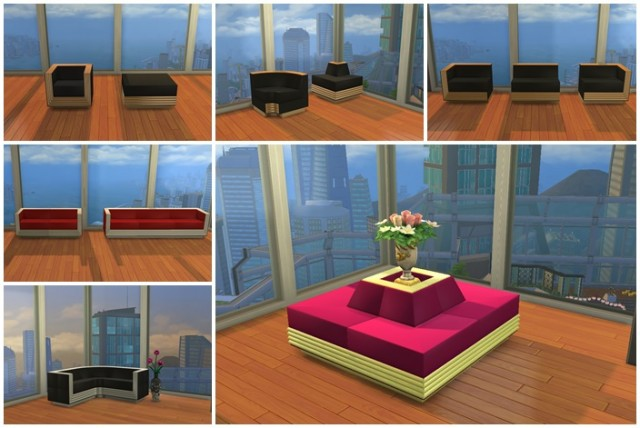 Decades Sectional Sofas by CinderelliMouse