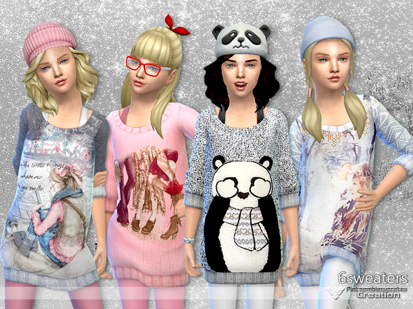 Winter Snowflakes Sweater Collection by Pinkzombiecupcakes