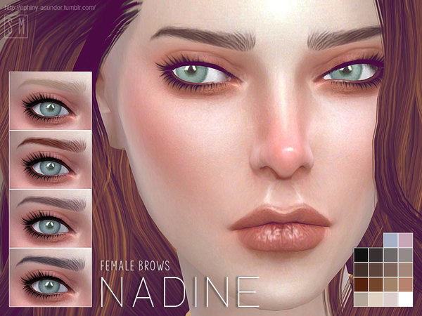 [ Nadine ] - Female Brows by Screaming Mustard
