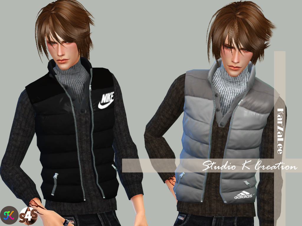 Down Vest by Karzalee