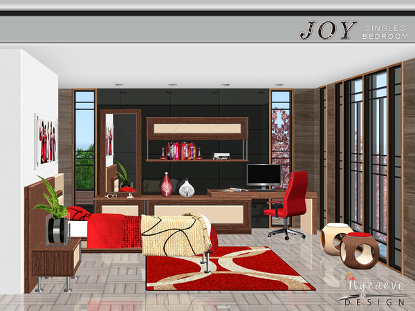 Joy Singles Bedroom by NynaeveDesign