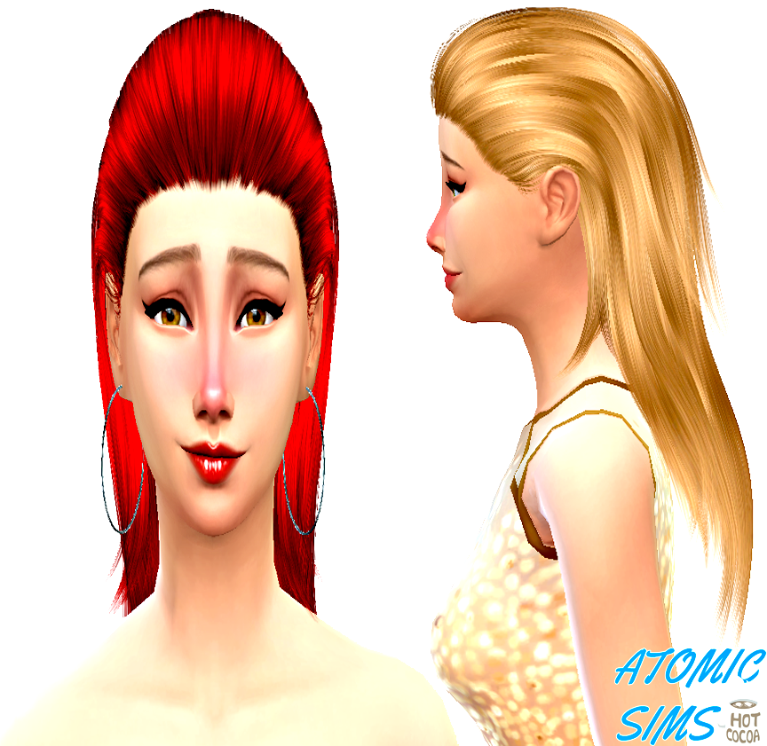 Sclub hair n12 Quella retexture by Atomic-sims
