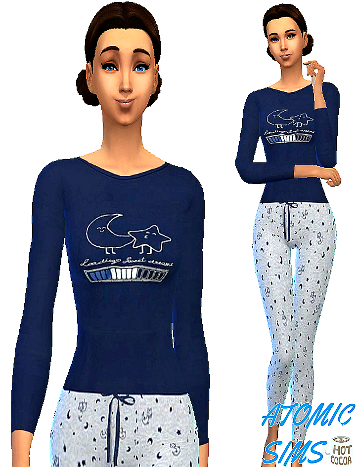 Carly pajamas by Atomic-sims