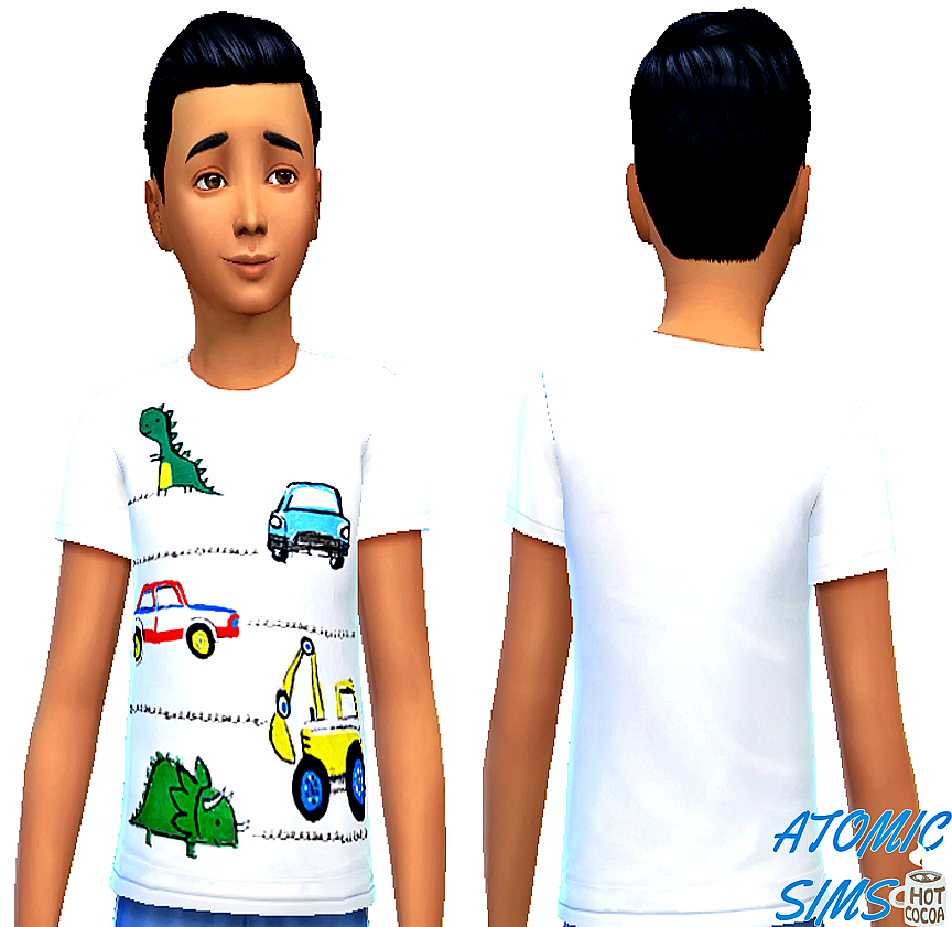 NEXT white cute t-shirt for boys by Atomic-sims