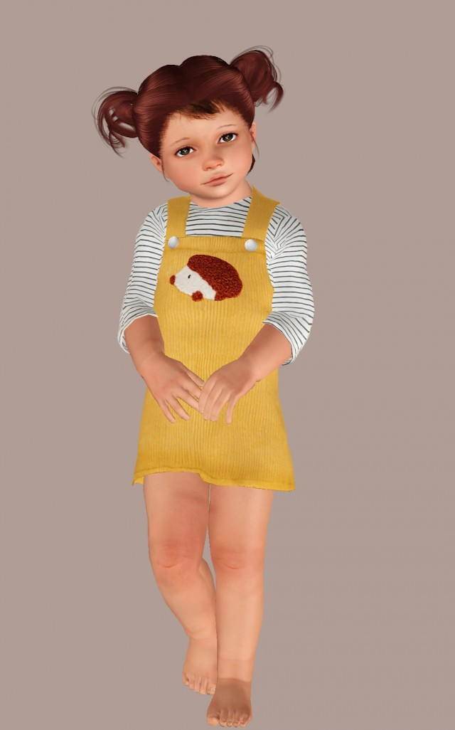 Ochre Pinafore Dress by TuTu-Cuteboutique