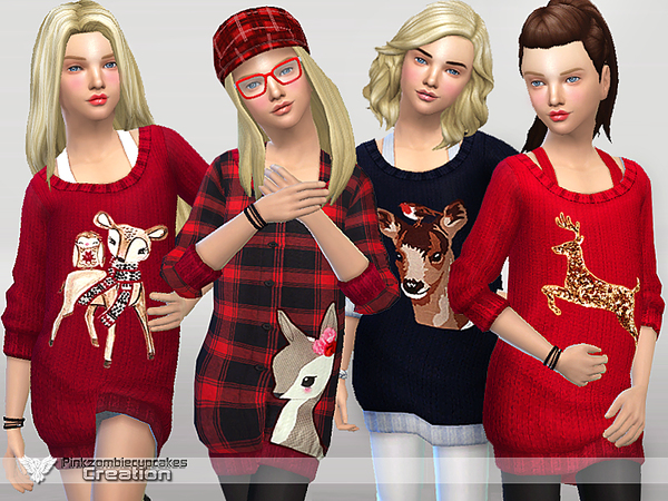Oh Deer! Girls_Sweaters Collection by Pinkzombiecupcakes