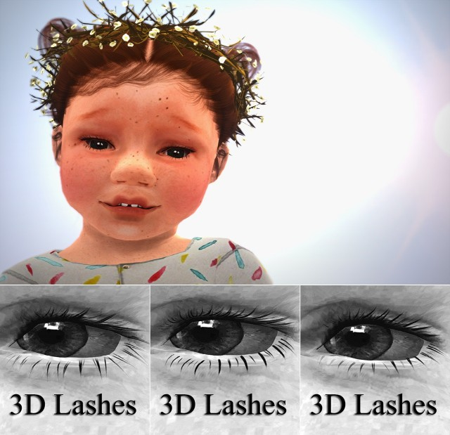 S-Clubs eyelashes converted for Kids & Toddler by Sketchbookpixels