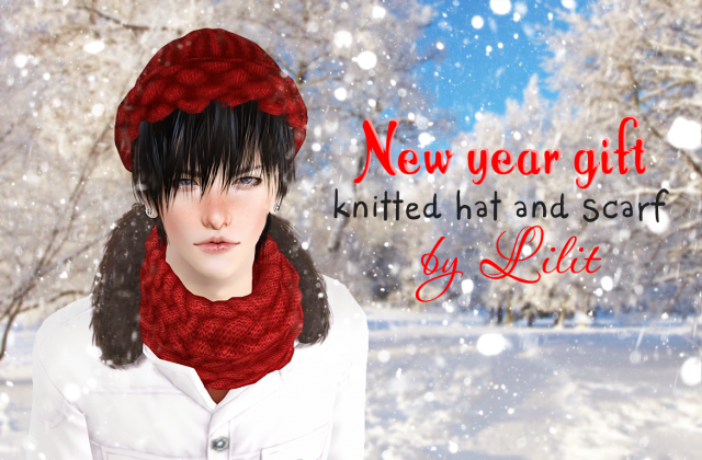 Knitting scarf and hat by Lilit