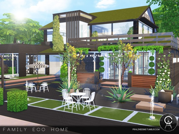 Family Eco Home by Pralinesims