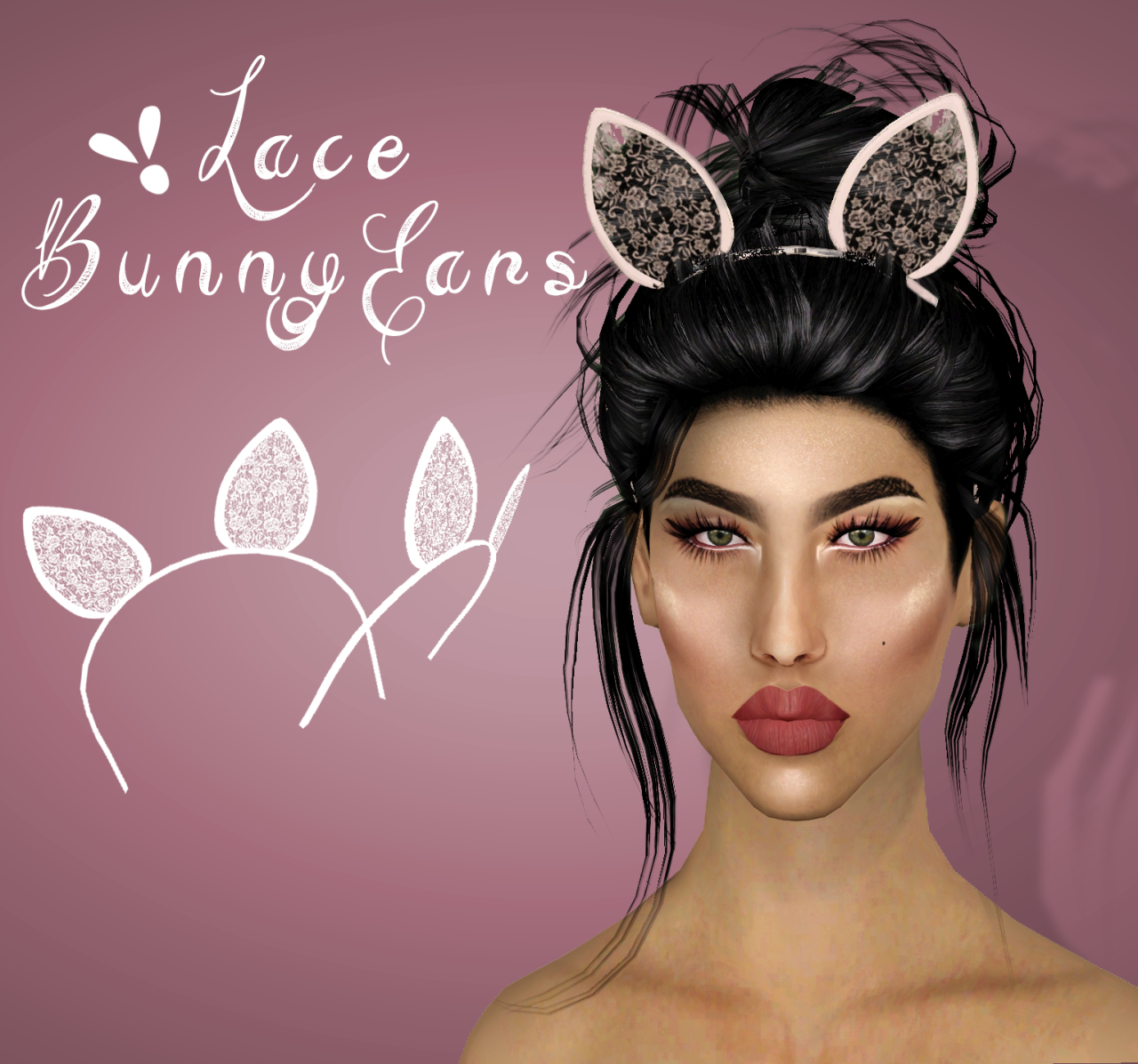 Lace Bunny Ears by vittleruniverse