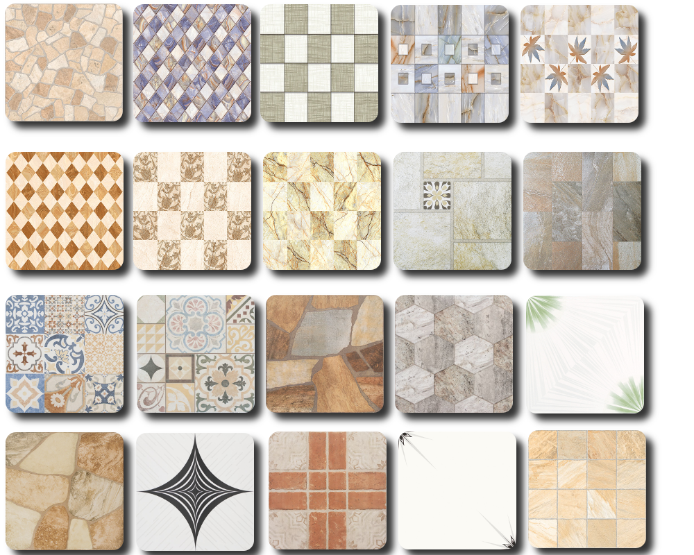 Floor Tiles by Tatschu