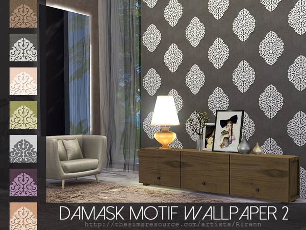 Damask Motif Wallpaper 2 by Rirann