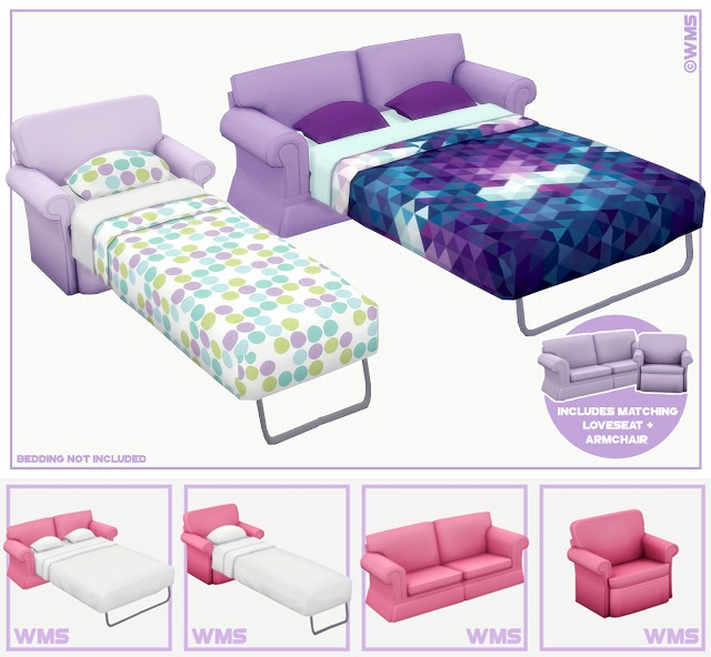 Dylan Sofa and Armchair Bed by WildlyMiniatureSandwich