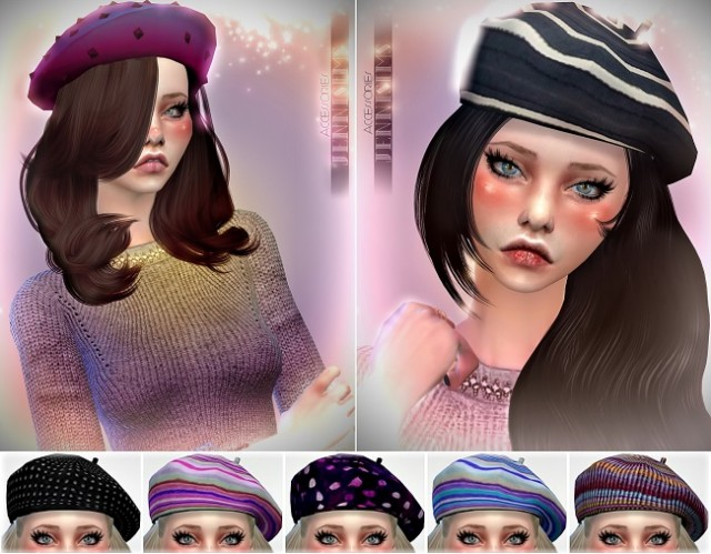 Base Game compatible Hats Mix by JenniSims