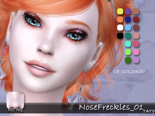 Nose Freckles by tatygagg