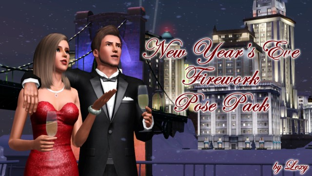 NEW YEARS EVE FIREWORK POSE PACK by Lexy