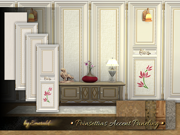 Poinsettias Accent Paneling by emerald