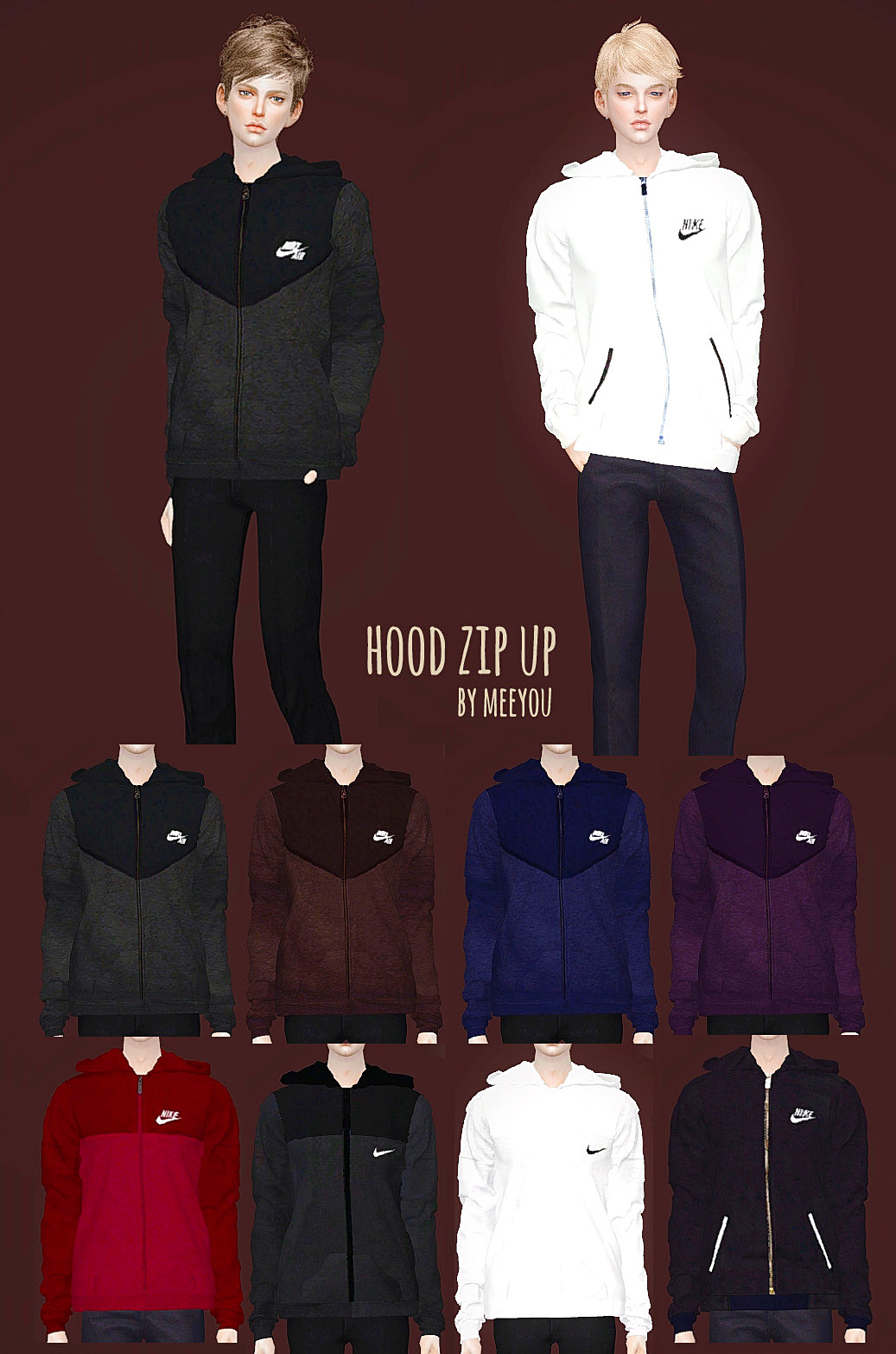 M_Nike hood zip up by Meeyou_x