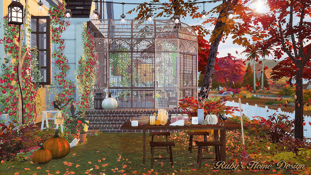 Autumn Cottage by RubyRed
