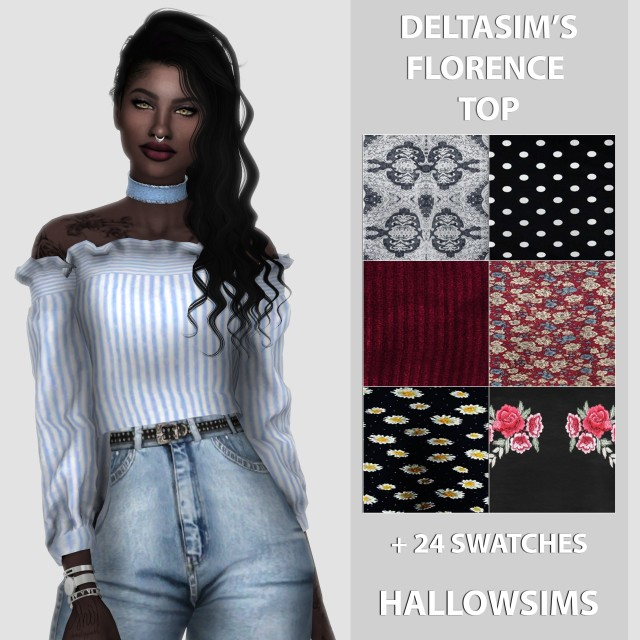 DeltaSims Florence Top by HallowSims