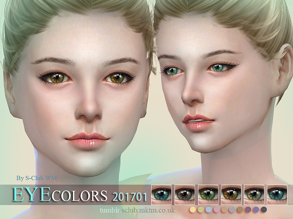 S-Club WM ts4 Eyecolors 201701