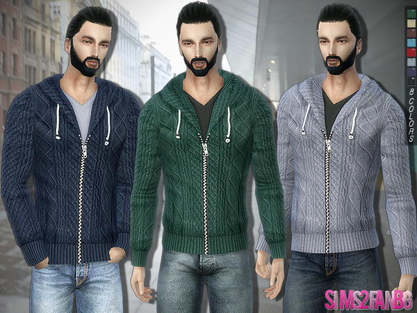 289 - Knitwear with Zip and Hood by sims2fanbg
