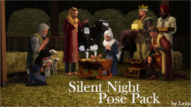 TS3 Silent night pose pack by Lexy