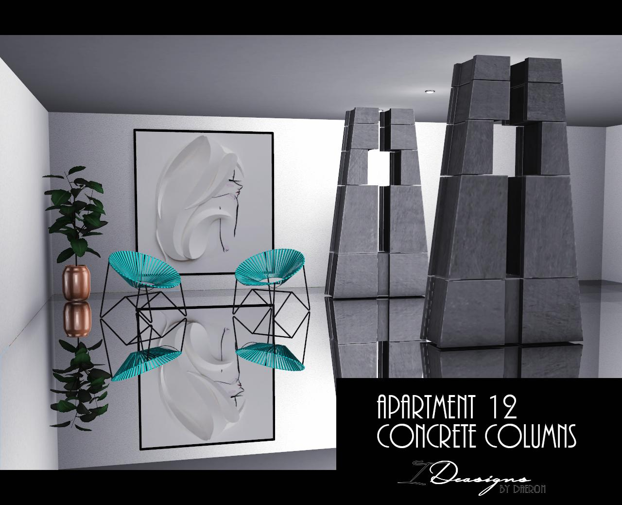 Apartment 12 Concrete Columns (new mesh) by Daer0n