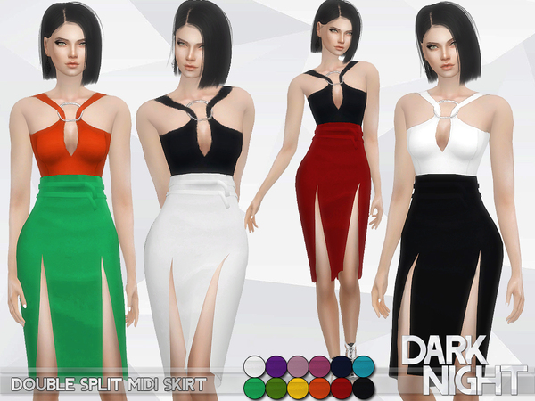 Double Split Midi Skirt by DarkNighTt
