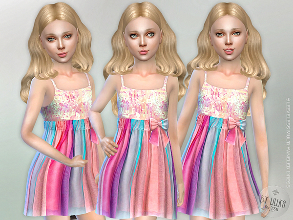 Sleeveless Multi-Paneled Dress by lillka
