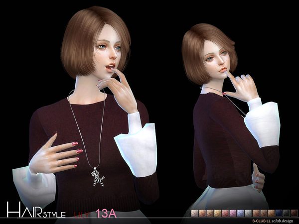 sclub ts4 hair Lily n13A update 20170108