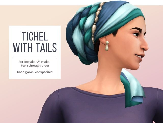 Tichel with Tails by FemmeOnAMissionSims