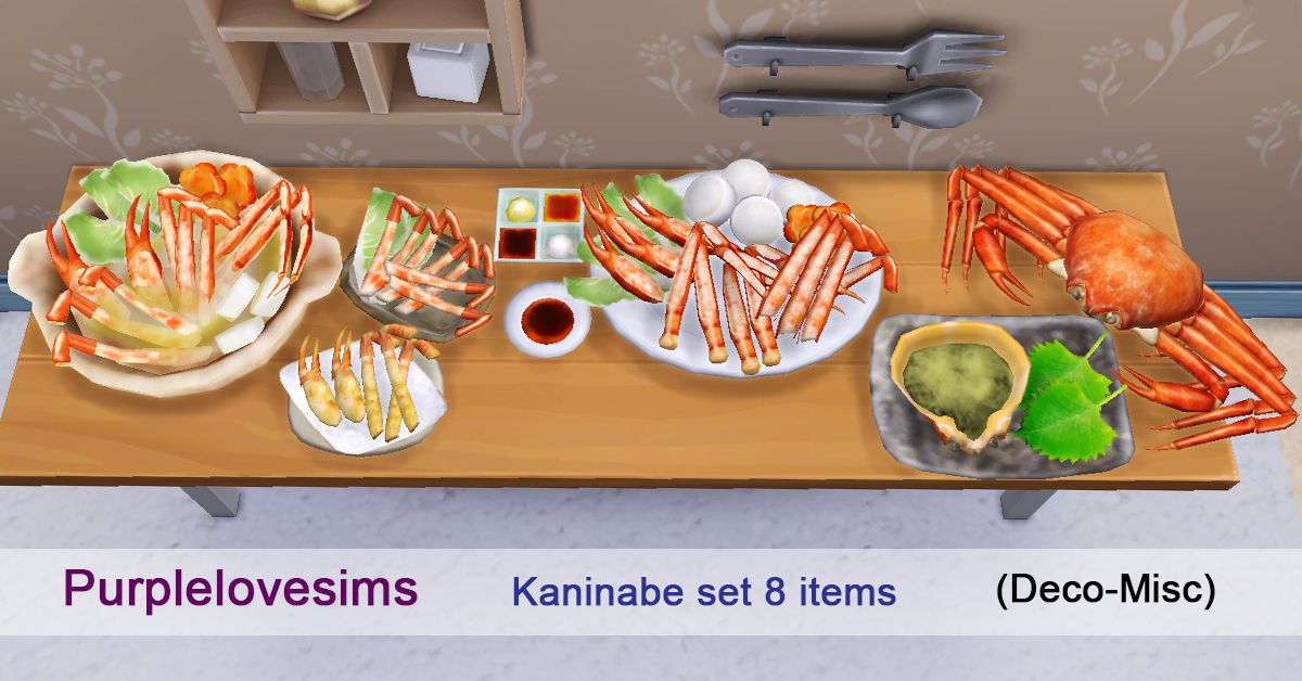 Kaninabe Set by PurpleLoveSims