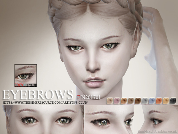 S-Club WM ts4 Eyebrows F 201701