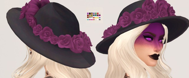 Carnation: a hat with flowers by Valhallan