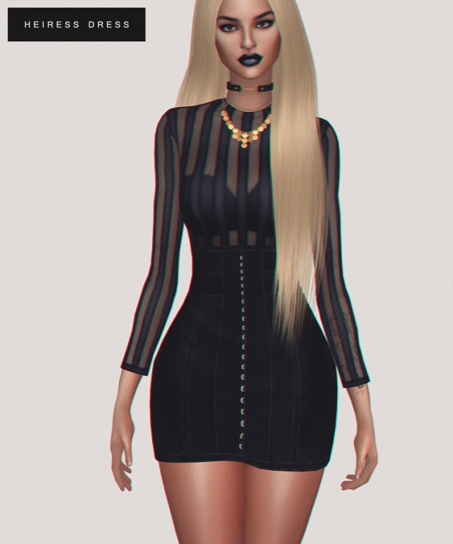 Heiress Dress by FashionRoyaltySims & Salem2342