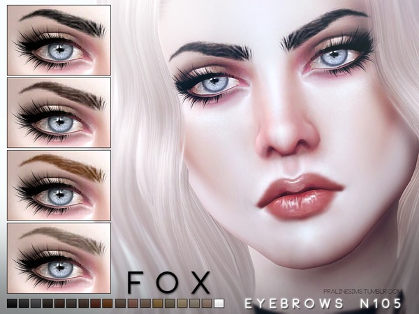 Fox Eyebrows N105 by Pralinesims